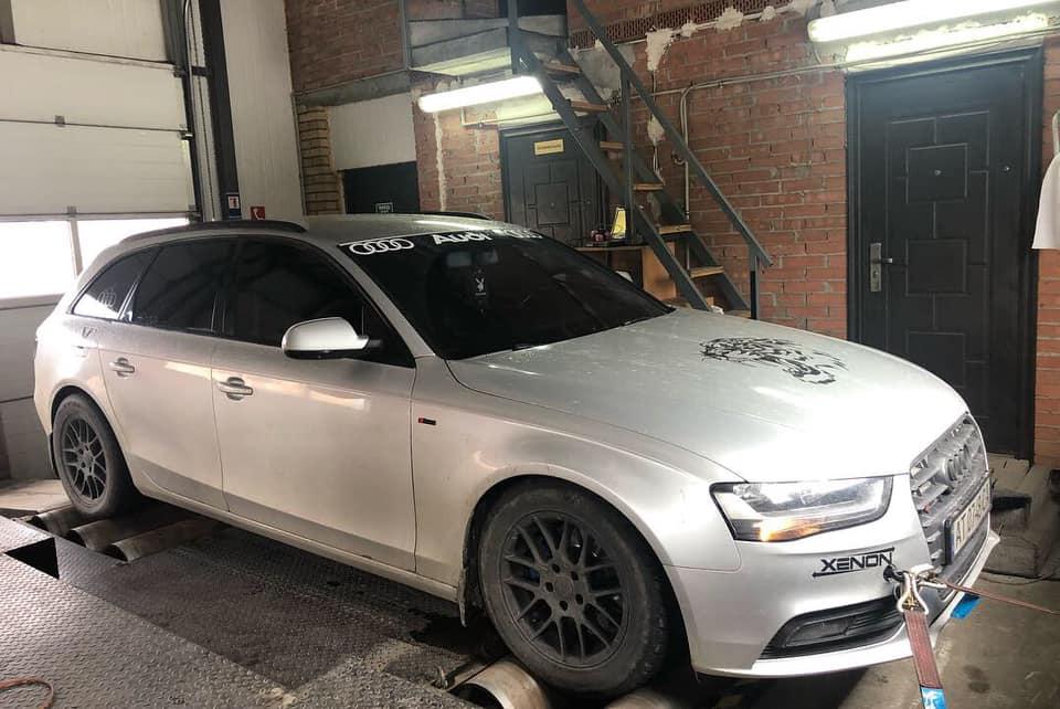 Audi a4 B8fl satage1 ms dyno - Чіп тюнінг Audi A4 FL 2.0tdi Stage1