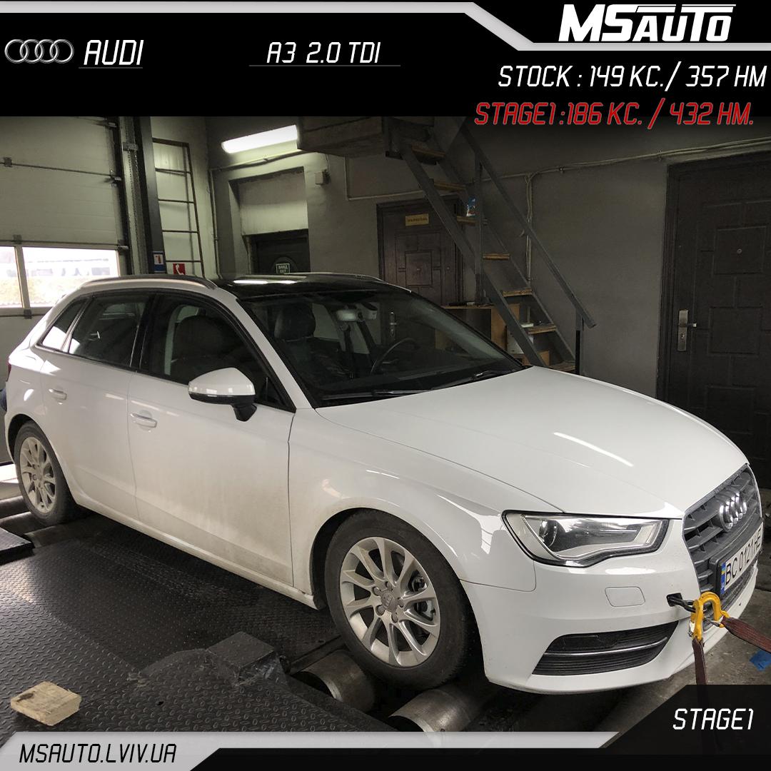 Audi A3 2.0 TDI Stage 1
