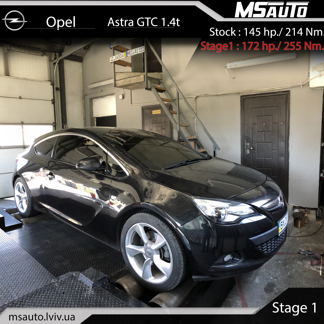 Opel Astra GTC 1.4t Stage1
