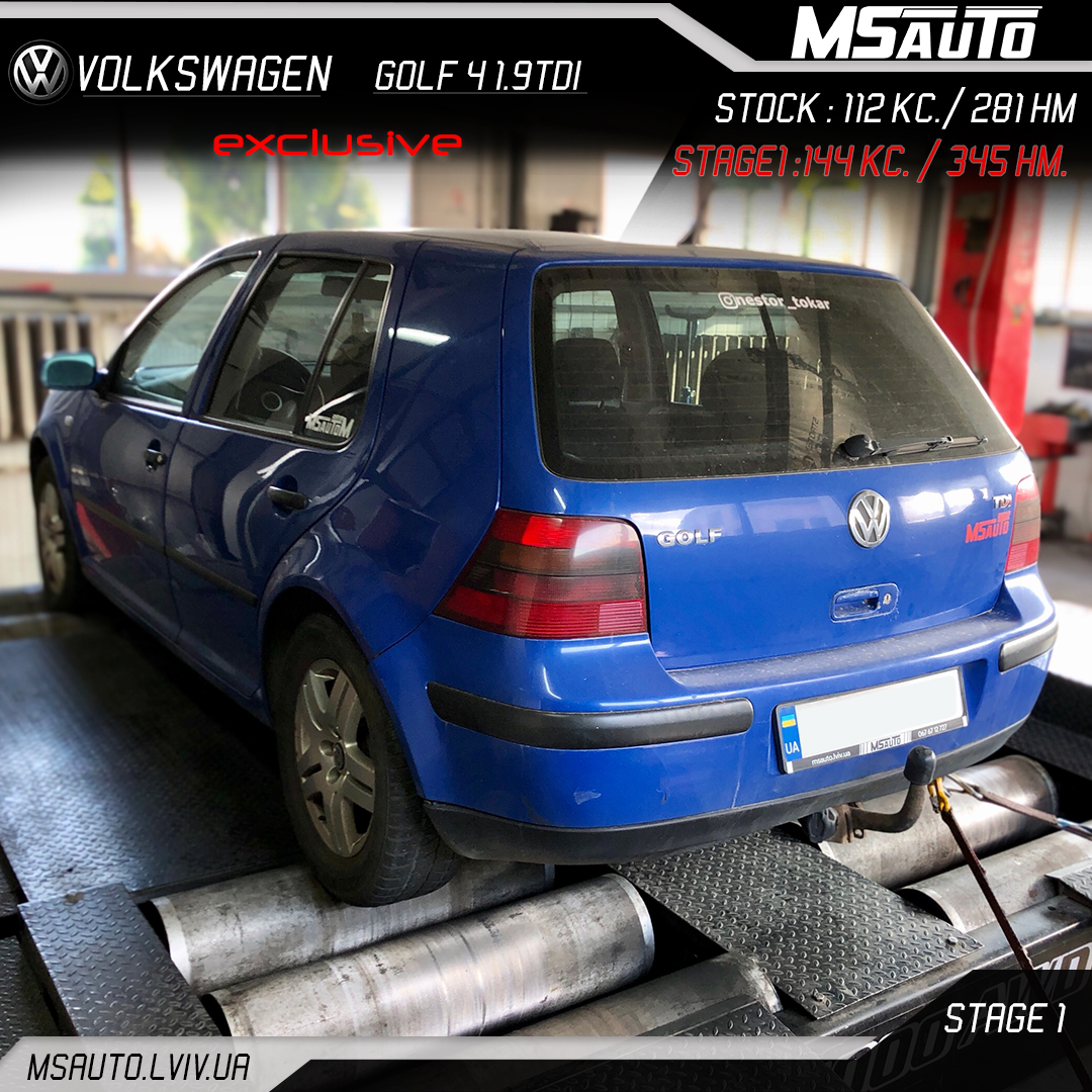 Volkswagen Golf 4 1.9tdi Stage1