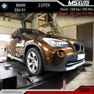 BMW X1 E84 2.0tdi stage1 msauto 300x300 - Чіп тюнінг BMW X1 E84 2.0tdi stage1