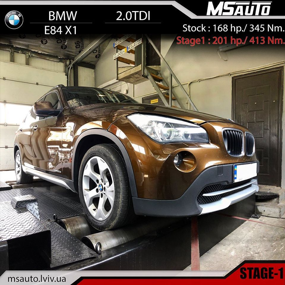 Чіп тюнінг BMW X1 E84 2.0tdi stage1