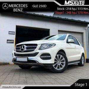 MB GLE 250d STAGE 1 MSAUTO LVIV 300x300 - Чіп тюнінг Mercedes Benz  GLE 250d Stage1