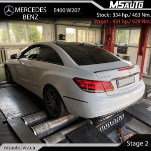 Msauto MB E400 w207 Stage2 300x300 - Чіп тюнінг Mercedes Benz E400 333Hp stage 2