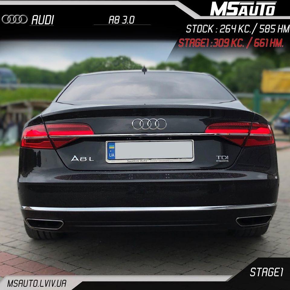 ЧІП ТЮНІНГ Audi A8L 3.0TDI CTBA STAGE1