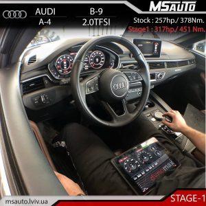 Audi A4 B9 2.0TFSI CYMC STAGE1 MSauto 300x300 - Чіп тюнінг Audi A4 B9 2.0TFSI CYMC STAGE1