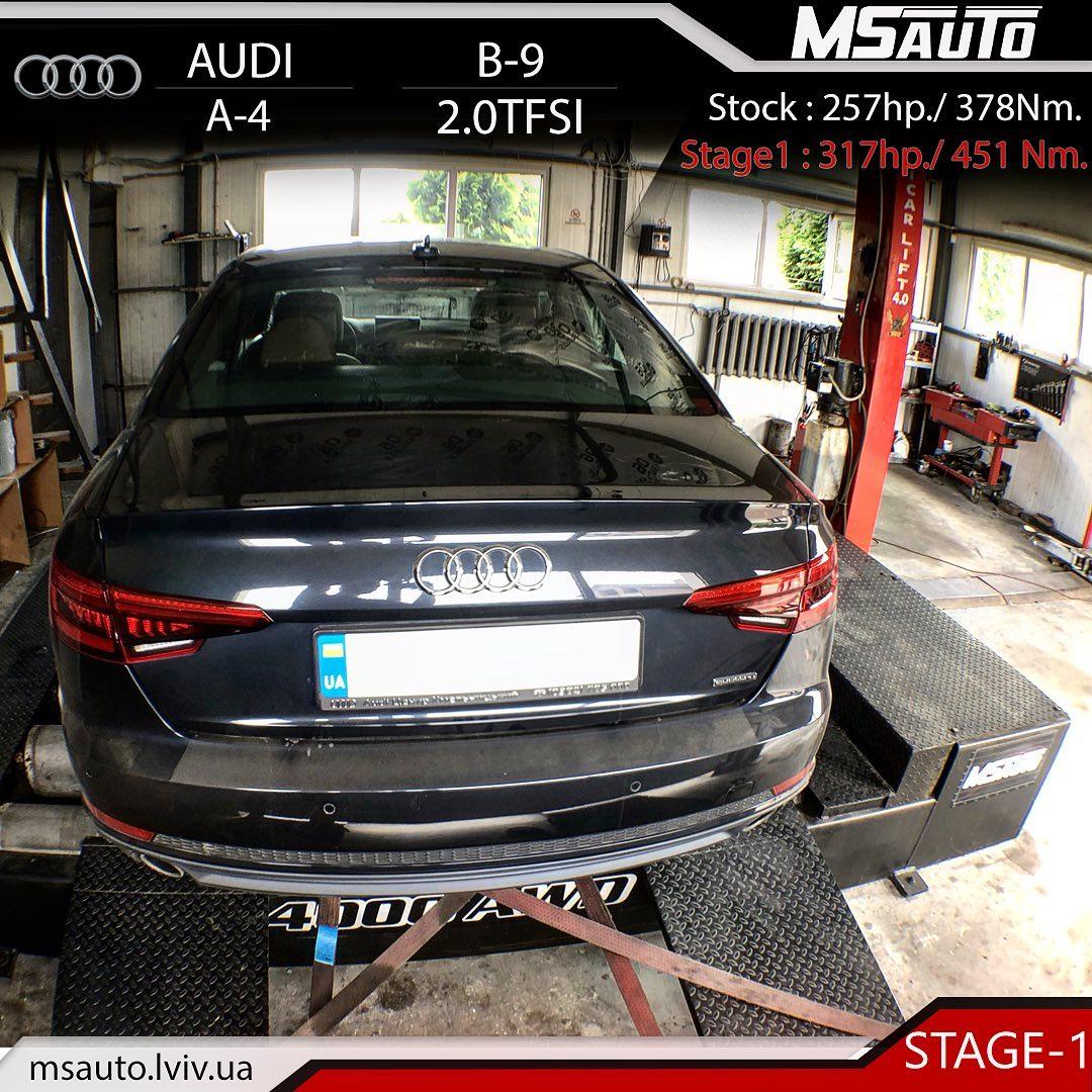 Чіп тюнінг Audi A4 B9 2.0TFSI CYMC STAGE1