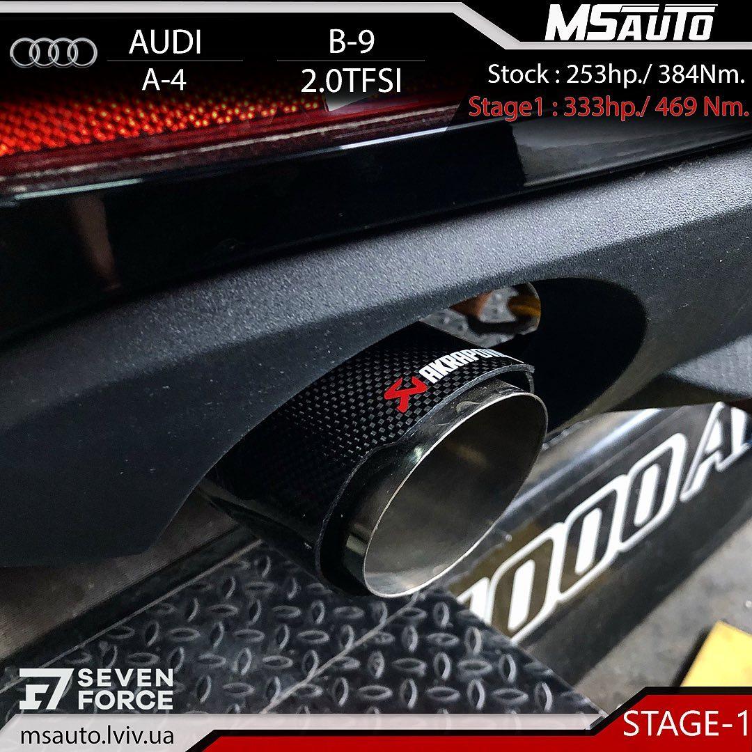 Чіп тюнінг AUDI A4 B9 2.0tfsi CYMC Stage1+