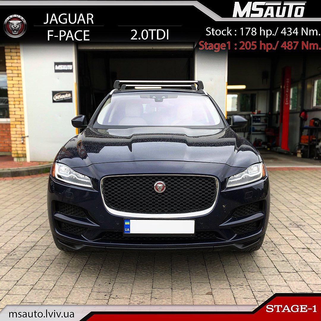 Чіп тюнінг Jaguar F-PACE 2.0D Stage1
