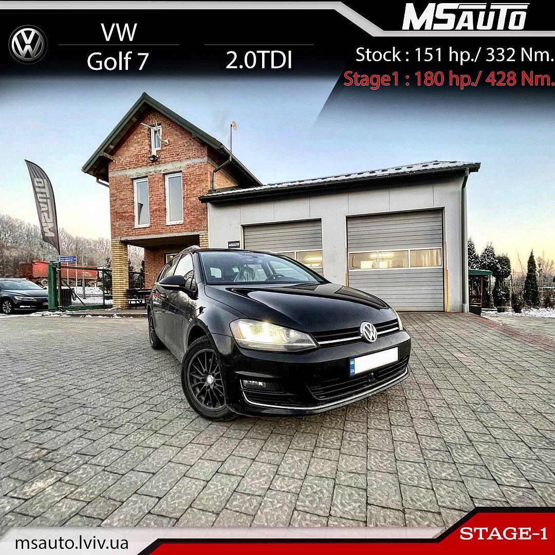 Чіп тюнінг VW Golf 7 SportWagen 2.0tdi