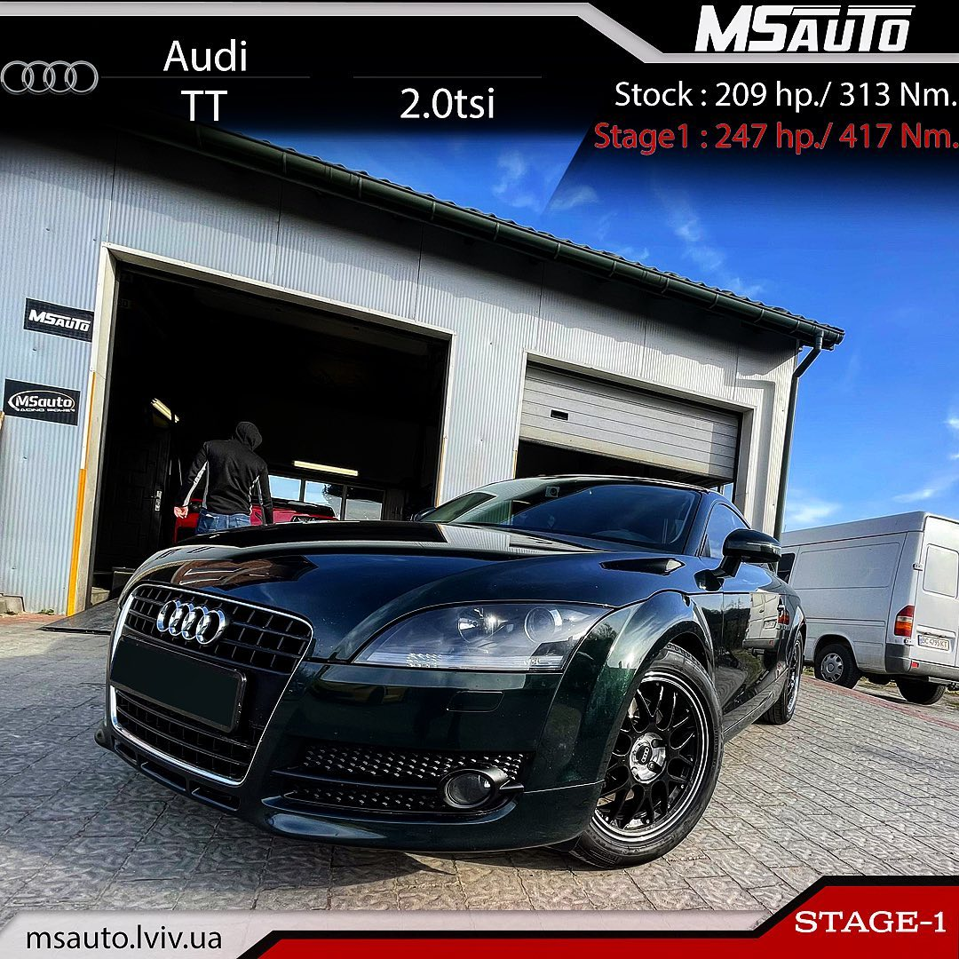 Чіп тюнінг Audi TT 2.0tsi BWA Stage1