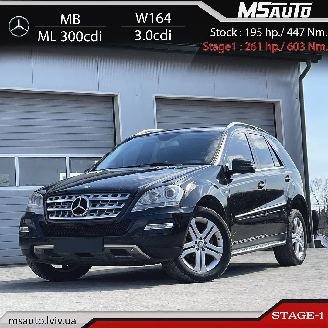 Чіп тюнінг Mercedes ML 300cdi W164 Stage1