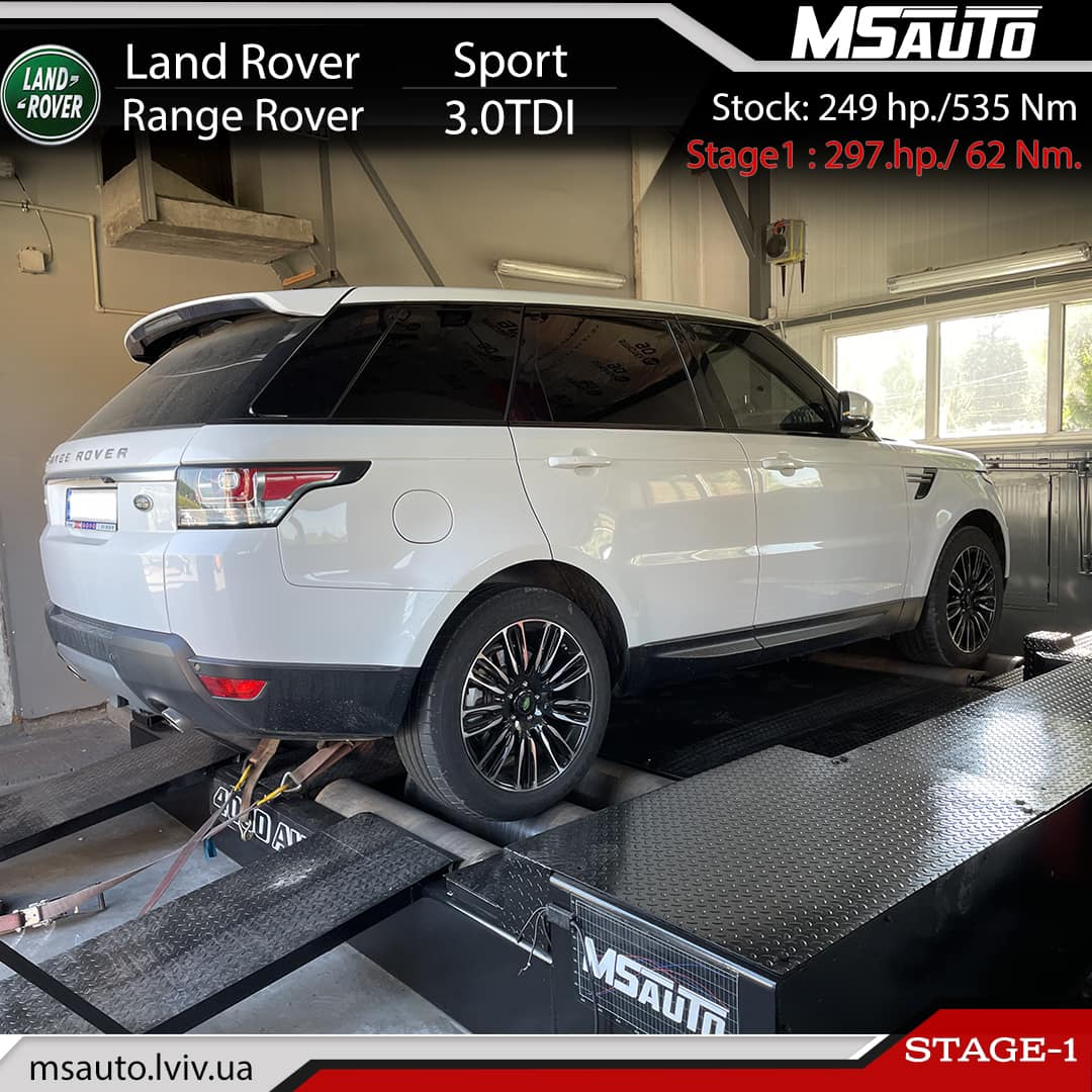 Чіп тюнінг Land Rover Range Rover Sport 3.0TDI