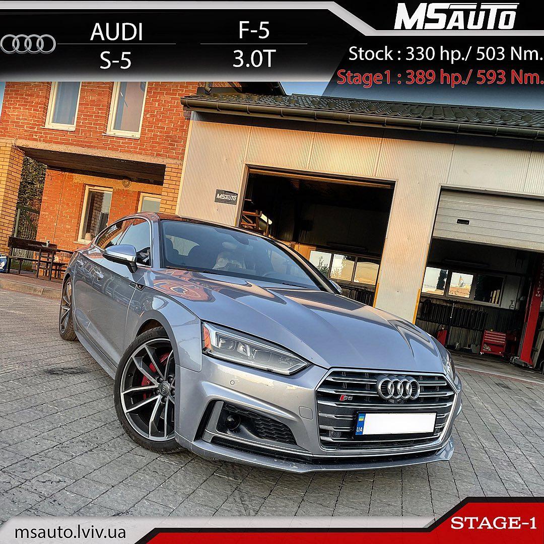 Чіп тюнінг Audi S5 F5 3.0T Stage1