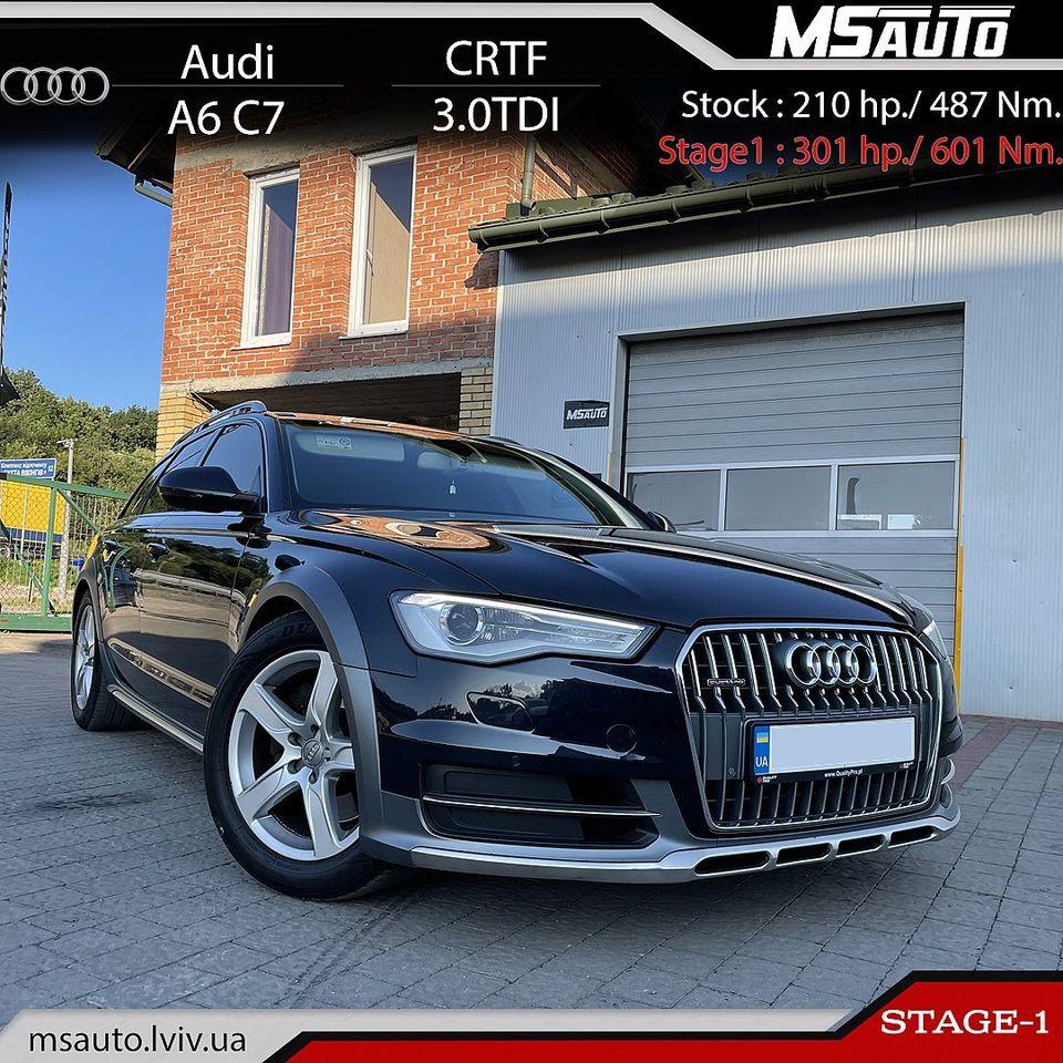 Чіп тюінінг Audi A7 C7 3.0tdi CRTF Stage1